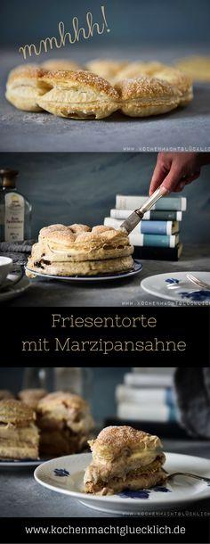 Für Nostalgie pur auf der Kaffeetafel sorgt diese köstliche Friesentorte mit Marzipansahne