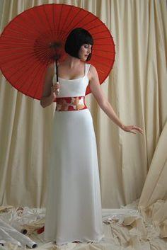 Japanese Modern Wedding Dress Design With Big Ribbon | Wedding dresses, simple wedding dresses, Prom dresses