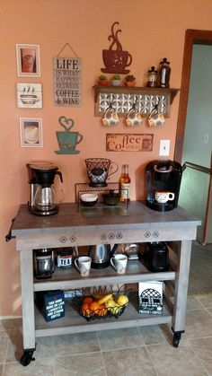 Best Home Coffee Serving Station Ideas – Coffee Bar Inspiration - Decorating Ideas And Accessories For The Home - Creative Ideas For Every Room' Coffee Nook, Coffee Bar Home, Coffee Table Tray, Coffee Corner, Coffee Wine, Coffee Maker, Coffee Bars, Coffee Machine, Coffee Mornings