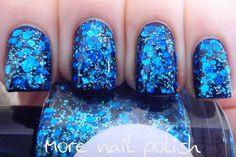 Beneath the Blue Hand made custom nail polish by GlimmerbyErica, $10.00