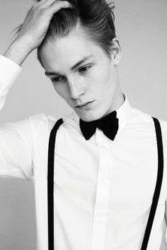Classic black bow tie in double lace   strangeforeignbeauty:    Harry Goodwins  [ b ]