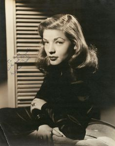 Lauren Bacall - love the film noir lighting.