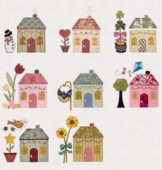 make quilt, or something with the same cottage in a differnt wa for each month of the year.