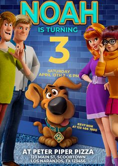 Kids Birthday Party Invitations, Birthday Supplies, Peter Piper Pizza, Old Cartoon Shows, Scooby Doo Movie, Scooby Doo Pictures, Boy Girl Names, Ghost Dog, Online Print Shop