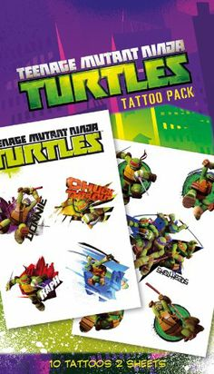 Teenage Mutant Ninja Turtles Shellheads Temporary Tattoo Pack: Amazon.co.uk: Toys & Games