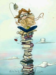 Illustrations, Book Illustration, I Love Books, Good Books, Reading Art, Reading Books, World Of Books, Lectures, Book Images