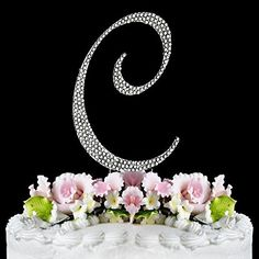 Rhinestone Cake Topper Letter C ** Tried it! Love it! : baking desserts recipes