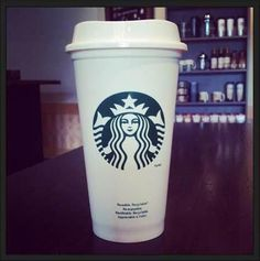 I want one of these reusable cups :) Hot Coffee, Coffee Cups, Common White Girl, Reusable Coffee Cup, Secret Menu, Food Obsession, Starbucks Drinks, Mugs, Random Stuff