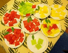 This is basically the apple craft I do for the first Storytime back in September after I'm gone for the summer. I like to use mini/dessert sized paper plates so it's a bit easier for the kids the first week back.