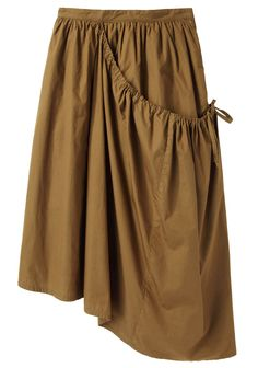Love the asymmetry and large pocket - Y's / Overlap Gather Skirt | La Garçonne