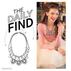 """The Daily Find: Bauble Bar Crystal Feather Bib Necklace"" by polyvore-editorial on Polyvore"