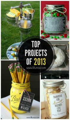 Top DIY Projects of 2013 on { lilluna.com } #diy #tutorials