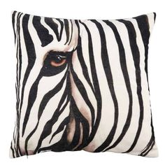 Characteristic off white and black couloured cushion with print of a zebra Give your sofa a new look with this decorative cushion which is made of Fluffy Cushions, Velvet Cushions, Tropical Style, Tropical Decor, Zebra Print Rooms, Delia Fischer, Sites Like Etsy, Bamboo Furniture, Safari Theme