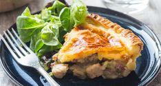 Tourte gourmande au poulet, champignons, poireaux et petits pois à réaliser en moins d'une heure cuisson comprise!
