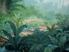 Disney: Background, The Jungle Book Book Background, Disney Background, Animation Background, Forest Background, Jungle Drawing, Jungle Art, Jungle Scene, Landscape Concept, Fantasy Landscape
