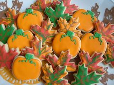 more pretty fall cookies