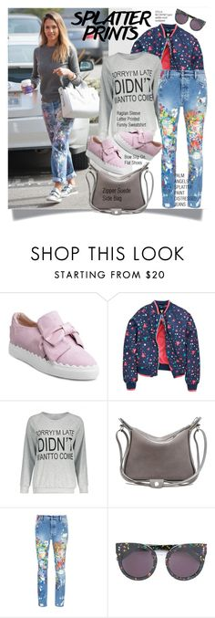 """""""Splatter Prints"""" by sweetsely ❤ liked on Polyvore featuring Palm Angels, STELLA McCARTNEY, polyvoreeditorial and paintiton"""