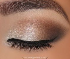 Nude smoky eye