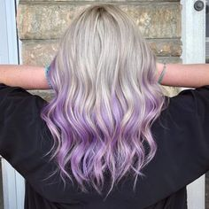 Grey to Silver Purple Ombre