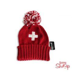 Strickmütze rot Schweizer Kreuz Swiss Miss, Love At First Sight, Winter Season, Beanie, My Favorite Things, Austria, Nice, Places, Christmas