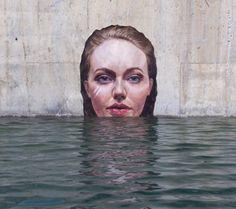 Découvrez les peintures réalisées au-dessus de l'eau absolument époustouflantes de cet artiste Hawaïen