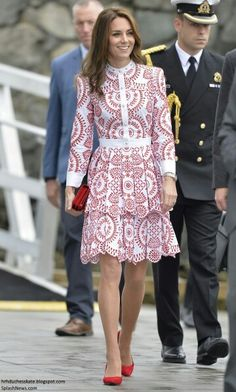Catherine Duchess of Cambridge on the way to the float plane that will take her and William to Vancouver Canada. September 25 2016