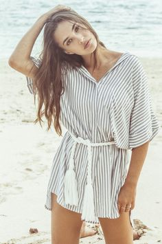 CASTAWAY SHIRT DRESS by Cait Miers for Faithfull the Brand