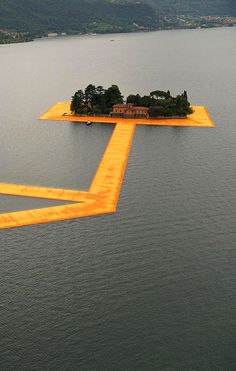 Christo and Jeanne-Claude: The Floating Piers, Lake Iseo, Italy, 2014–2016.