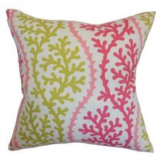 The Pillow Collection Venetie Coral Pillow - Pink Sand - P18-HSF-CORALSPENDLOR-PINKSAND