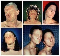 Anthony Aziz and Sammy Cucher's Dystopia series Conceptual Photography, Fine Art Photography, Portrait Photography, Face Distortion, 3d Foto, Art Alevel, Sensory Art, Vaporwave Art, Identity Art