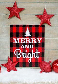 FREE Plaid Christmas Printable by Pastels & Macarons