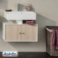 Fackelmann A VERO Badmöbel Set Gäste WC Farbe Graueiche Optik/Weiß  (2 Teilig)   Waschbecken Rechts   Sonderangebote Badedu   Pinterest