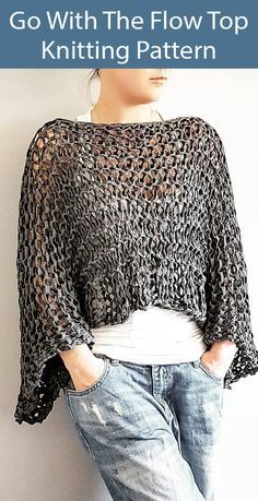 Openwork Top Knitting Patterns- In the Loop Knitting – Well come To My Web Site come Here Brom Crochet Poncho, Knitted Shawls, Free Crochet, Loom Knitting, Baby Knitting, Dress Patterns, Knitting Patterns, Poncho Patterns, Tricot Simple