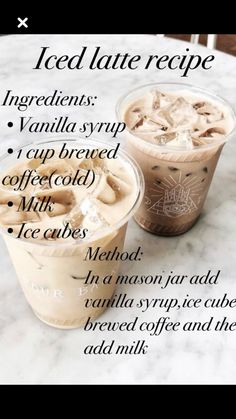 The Content For Yourself If You Enjoy iced coffee - Coffee Tips - coffee Recipes Iced Coffee Drinks, Coffee Drink Recipes, Homemade Iced Coffee, Starbucks Drinks, Healthy Iced Coffee, Ninja Coffee Bar Recipes, Keurig Recipes, Cold Brew Coffee Recipe, Iced Coffee At Home