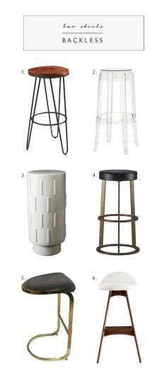 backless bar stools from our style roundup | via coco+kelley