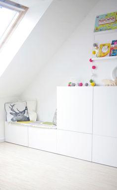 IKEA Besta storage in an attic Kids Playroom Ideas Attic Besta IKEA storage Ikea Kids, Ikea Storage, Bedroom Storage, Toy Storage, Storage Cabinets, Record Storage, Storage Ideas, Bedroom Decor, Storage Units