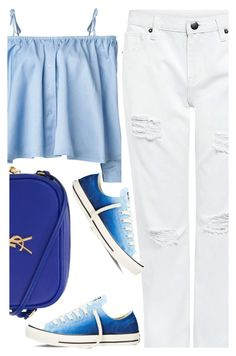 """street style"" by ecem1 ❤ liked on Polyvore featuring Sandy Liang, Edit, Converse and Yves Saint Laurent"