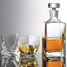 I like these tumblers especially!  After Hours Highland Whiskey Set, $50, now featured on Fab.