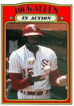 1972 Topps Dick Allen In Action, Chicago White Sox, Baseball Cards That Never Were.