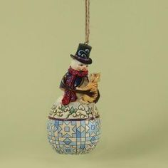4027750 Snowman with Cat Ornament