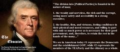 Thomas Jefferson Concerning the Political Party Divisions of the Nation