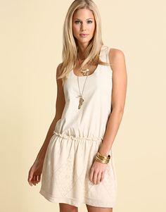 vestido de lino y algodón