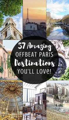 57 amazing, quirky and unusual offbeat Paris destinations you'll love! Interesting and offbeat things to do in the city of love, Paris, France! Best Vacation Destinations, Best Vacations, Vacation Spots, Paris Travel Guide, Europe Travel Tips, Asia Travel, Budget Travel, Travel Guides, Instagram Inspiration