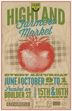 2012 Highland Farmers Market poster
