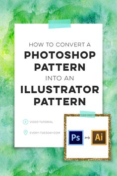 In this tutorial, we go step by step on how to convert any Photoshop pattern into an Illustrator pattern swatch in a few quick steps. Web Design, Graphic Design Tutorials, Tool Design, Graphic Design Inspiration, Vector Design, Photoshop Design, Photoshop Tutorial, Photoshop Actions, Tips