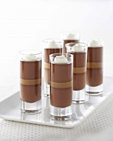 Dark Chocolate Caramel Panna Cotta