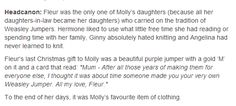 molly and fleur - hp headcanon Can we take a moment to realize Angelina and George got married in this. the feels.