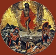 The Resurrection. half of the c. The State Hermitage Museum, St Petersburg. Byzantine Icons, Byzantine Art, Fall Of Constantinople, Black Hebrew Israelites, Catherine The Great, Hermitage Museum, Jesus Resurrection, Illuminated Manuscript, Art Museum