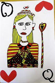Self Portrait Playing Card--5th Grade