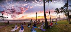 Beach | Sunset Yoga Hawaii | Wellness Retreats - Beach Yoga Hawaii Waikiki Honolulu ビーチヨガハワイ